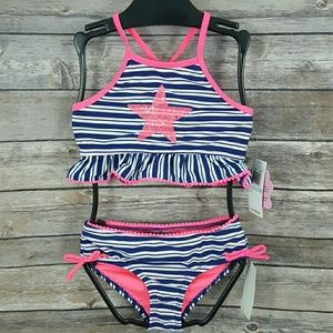 Hula Star Girls Star Sequins Two-Piece Swimsuit